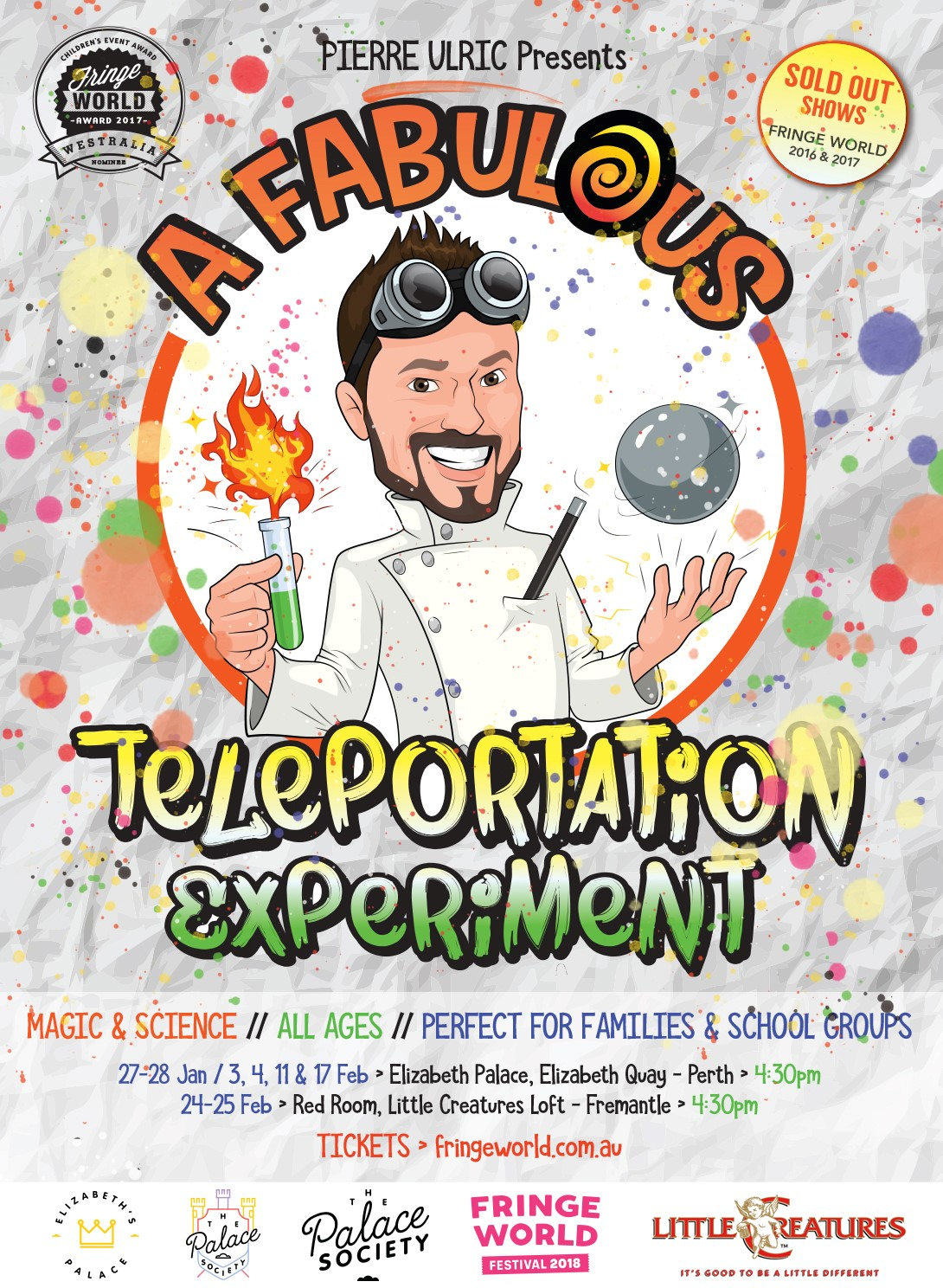 Fringe World: A Fabulous Teleportation Experiment
