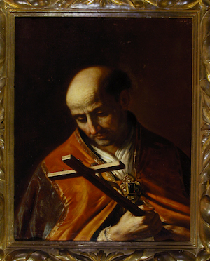 Giovanni Francesco Barbieri known as Guercino (Cento 1591-Bologna1666) Saint Andrea Corsini 1630 oil on canvas 75 x 65 cm Galleria Corsini, Florence