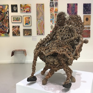 Janine McAullay Bot            Mother Yganka in the Chair 2015 Queen palm tree fronds, seed pods