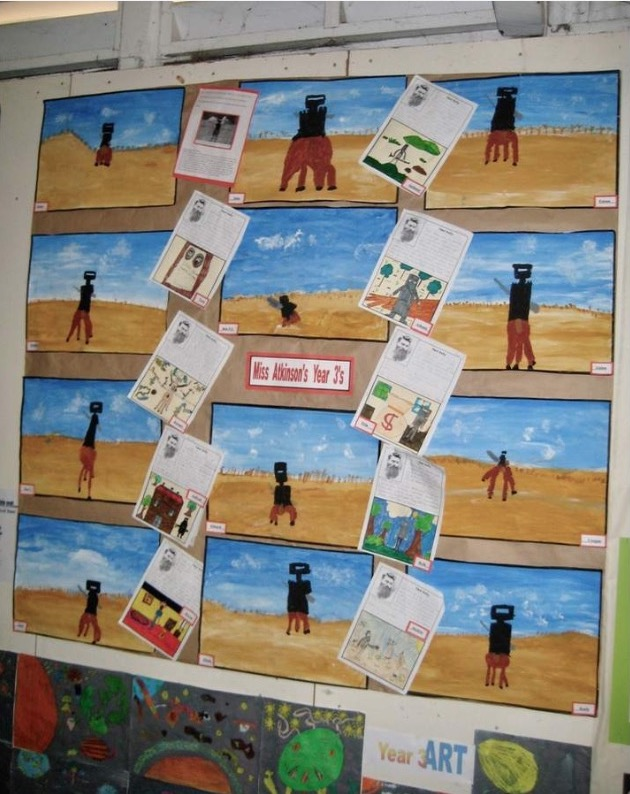 Children's pictures of Ned Kelly