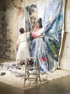artist painting singer