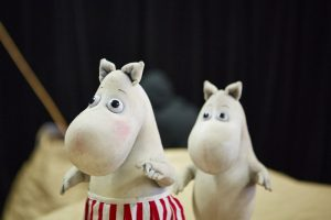 Puppets from Moominpappa at Sea