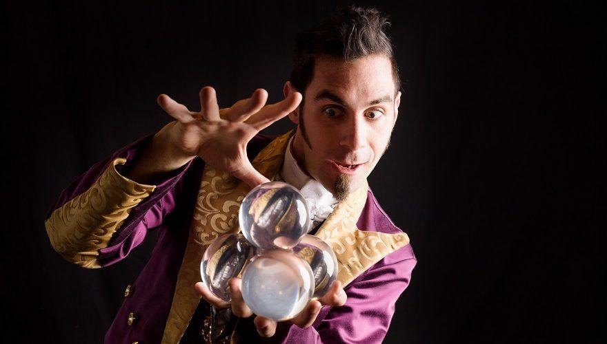 A man doing magic