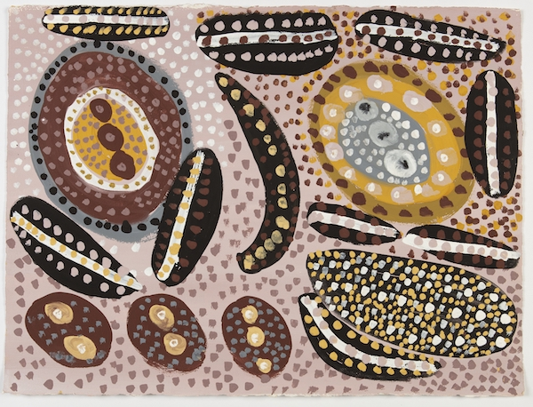 Mrs Taylor Aru 2018 ochre pigments on paper 57.5 x 76 cm Courtesy the artist's family and Kira Kiro Art Centre