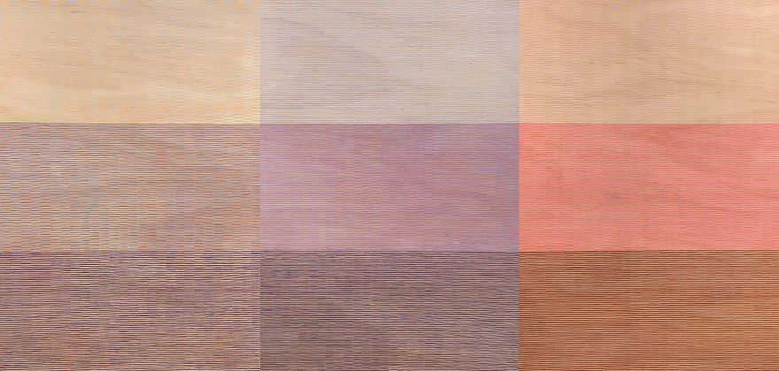 Eveline Kotai, 'Breathing Pattern #3' 2019, acrylic on plywood, 120.7 x 270 cm, Courtesy of Artist and Art Collective WA.