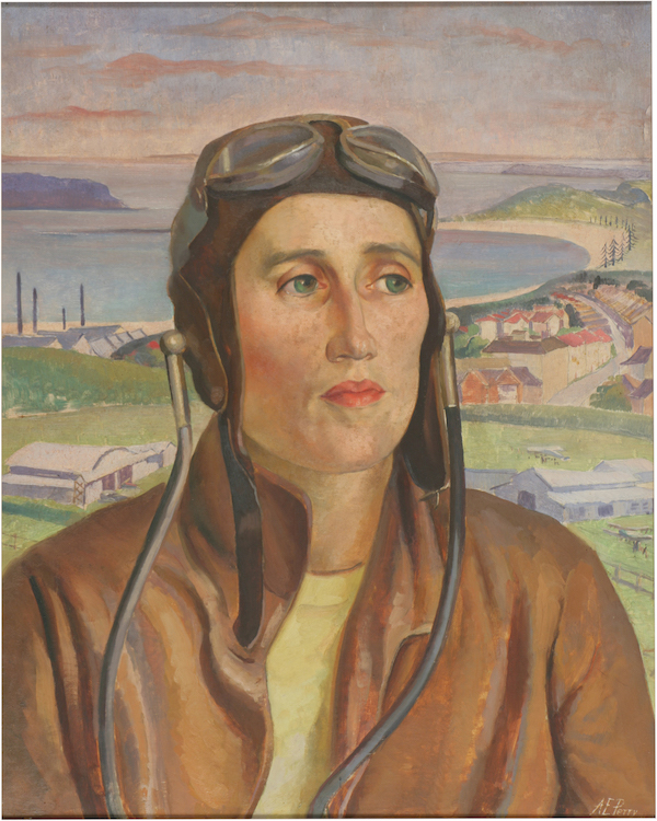 Adelaide Perry, Woman pilot, 1931, oil on composition board, 49.5 x 39.3 cm, The University of Western Australia Art Collection, McGillivray Bequest Fund, 1983