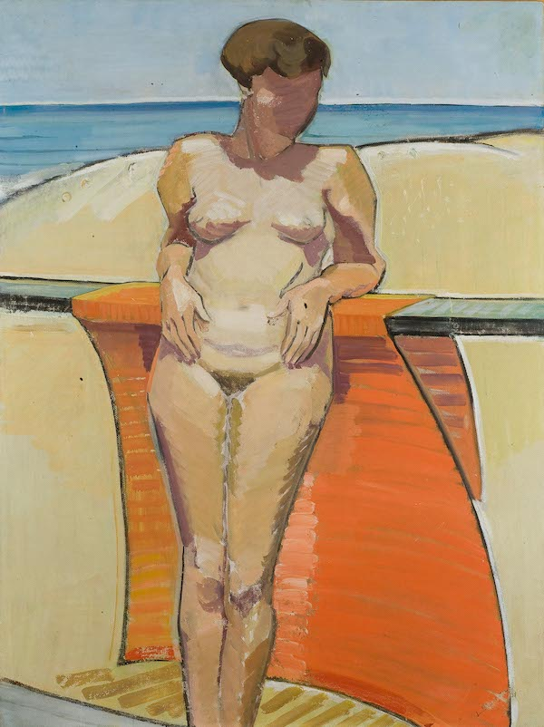 Elise Blumann, Summer nude, 1939, oil on board, 121.5 x 91.5 cm, The University of Western Australia Art Collection, Acquired with the assistance of the Visual Arts Board of the Australia Council and the Dr Albert Gild Fund, 1976