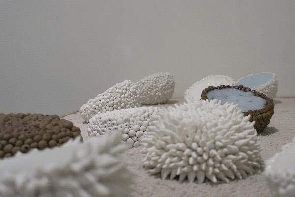 16 - 26. Andrea Vinkovic, Cluster Seies (detail), 2019, procelain, glaze_2