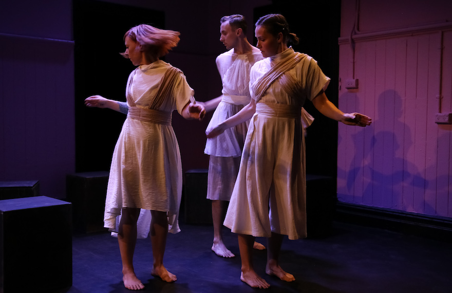 Bernadette Lewis, Scott Elstermann and Storm Helmore. Photo: Emma Fishwick.
